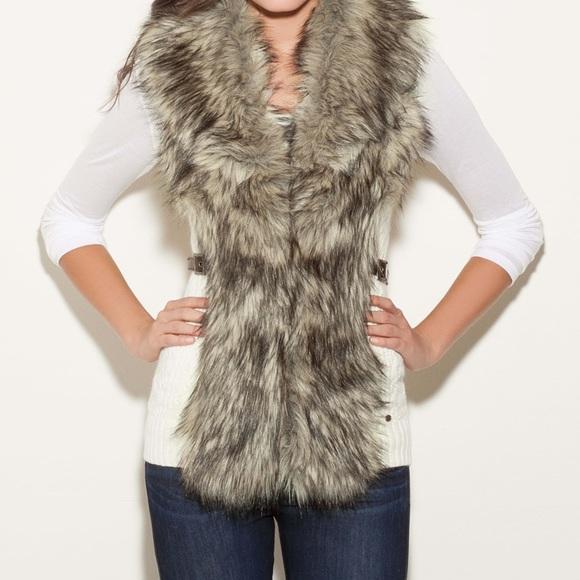 Guess Jackets & Blazers - GUESS Vivi Faux Fur vest